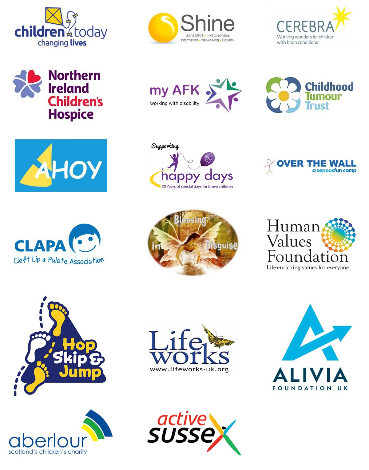 Charities we've supported